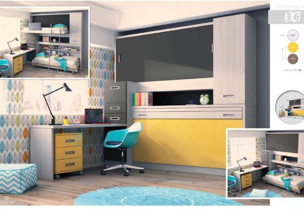 dormitorio juvenil composición-35