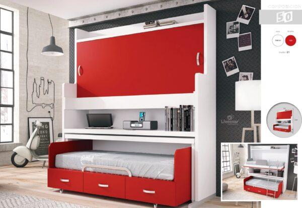dormitorio juvenil composición-49